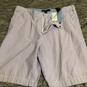 Tommy Hilfiger purple striped shorts